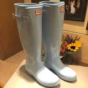 Women's NWT Hunter boots- boat blue- size 9